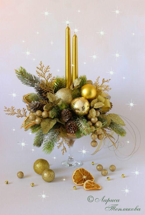 Gallery.ru / Фото #1 - Новогодняя композиция - LediFlor