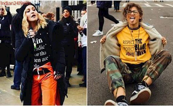 Women's March: Madonna, Katy Perry America Ferrera join protests against Donald Trump