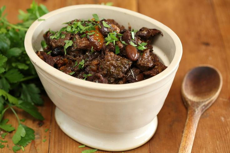 Beef Stew with Olives and Orange- substitute beef for aubergine, mushrooms and/or tofu (or quorn/soy beef)