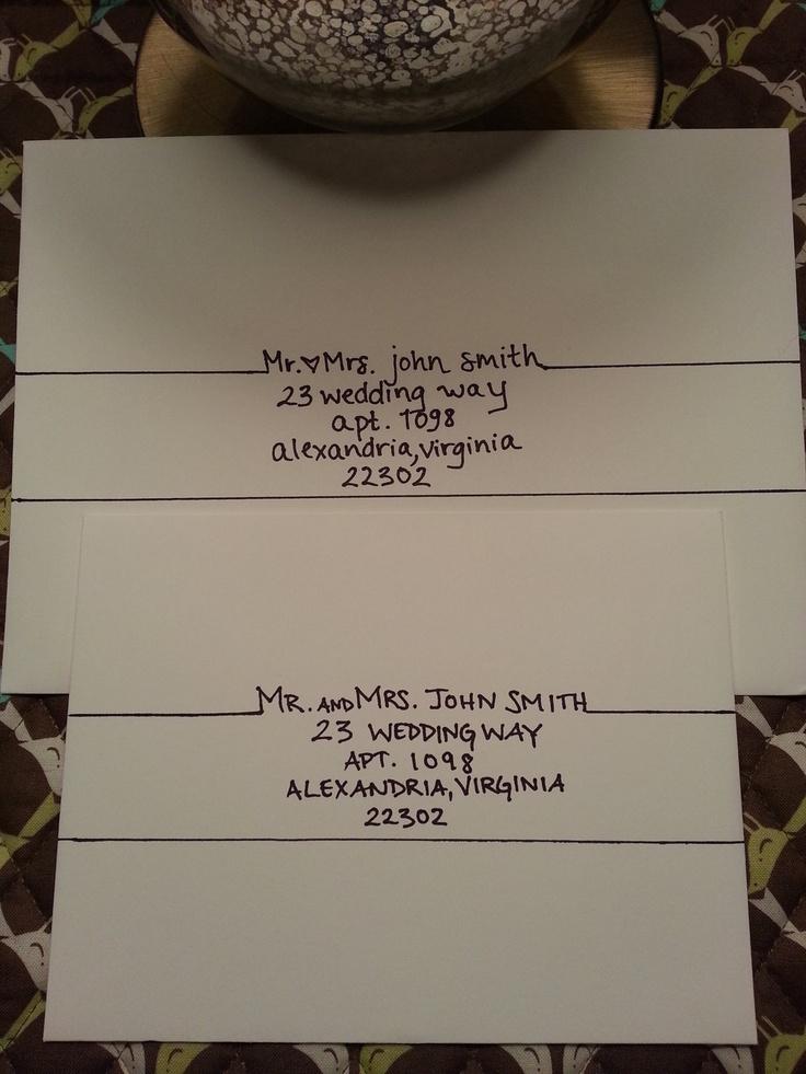 Handwritten addressing of envelopes and placecards #wedding #stylish
