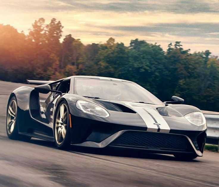 2017 Ford GT Heritage Edition in Shadow Black.