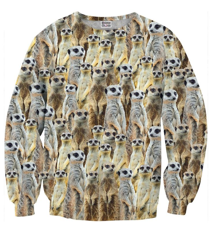 Meerkats sweater, Mr. GUGU & Miss GO