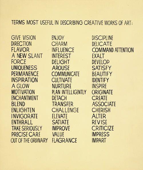 Vocab to describe art