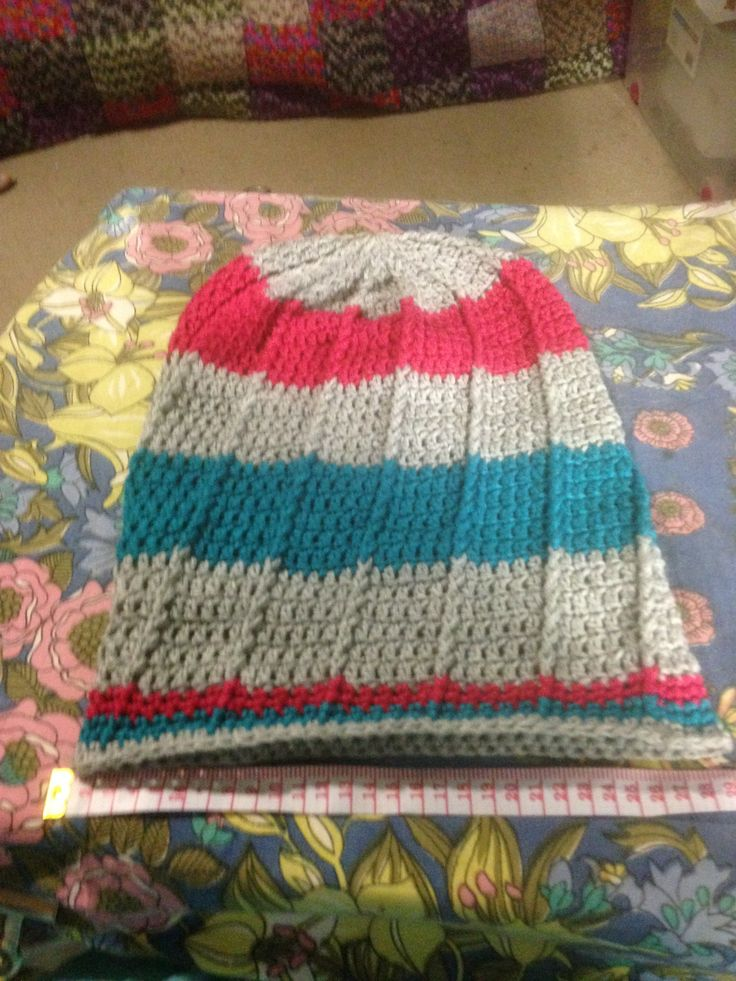 Oversized Beanie I made for a friend.