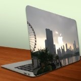 Macbook Air or Macbook Pro Skin (13 inch) Vinyl, Removable Skin - Cloudy Chicago Skyline $15.95. on Amazon