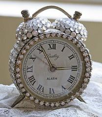 Super blingy clock.