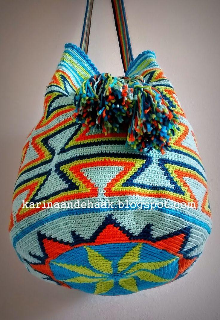 Karin on the hook: Mochila bag
