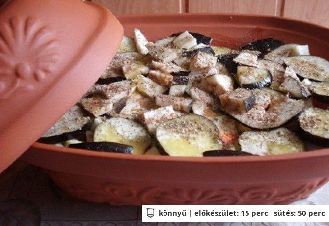 Római tálban sült zöldséges tandori hal