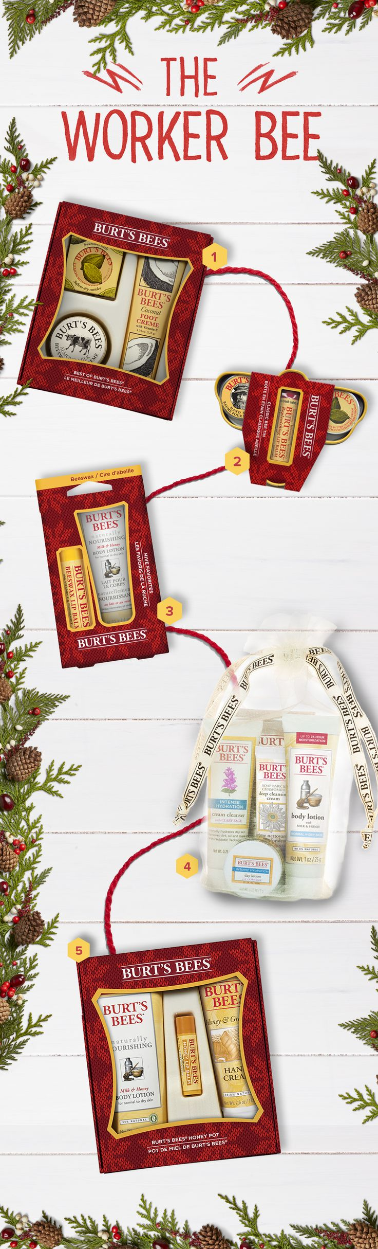 2016 Holiday Gift Guide for The Worker Bee   Maybe they leave cookies in the breakroom. Maybe they take monotony out of Mondays. Whatever your reason, show your workplace appreciation to a fellow Worker Bee with all-natural personal care products from Burt's Bees.