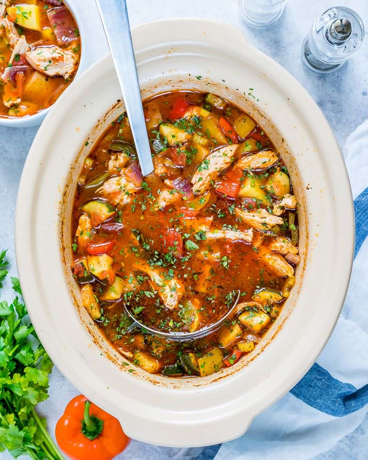 Eat Clean with this Hearty Slow Cooker Chicken Stew! - Clean Food Crush