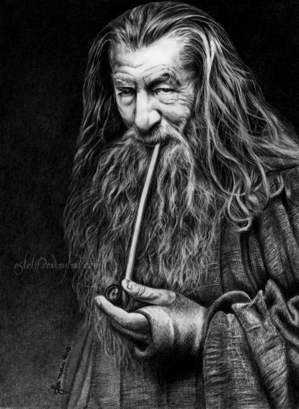 Gandalf, The Grey by ~Esteljf on deviantART ~ artist Josi Fabri pencil art ~ LOTR