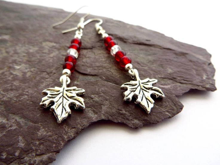 Canadian Maple leaf earrings