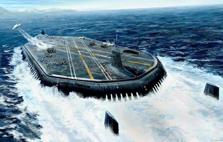 潜水空母について。2009年7月の報道においてマーク・W・ケニー少将はアメリカ海軍のオハイオ級潜水艦にはロボット潜水艇とUAV(無人航空機)が装備されると述べている。搭載されるUAVはスキャンイーグルやバスターとのこと。