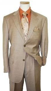 SKU#UP2938 Mens Two Button Dark Tan Coffee Suit $119 Mens Discount Suits By Style and Quality 2 Button Suits purple tie
