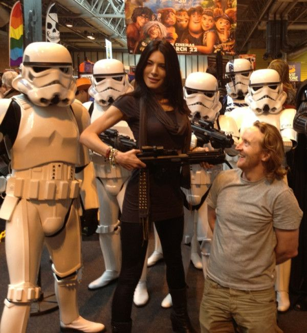 jaime murray and tony curran (and storm troopers)