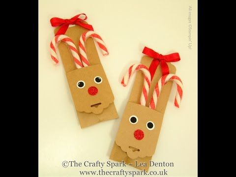 The Crafty Spark: Reindeer Candy Cane - Christmas Eve Box & Stocking Fillers