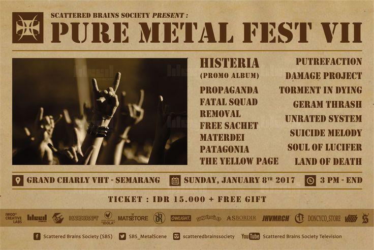 Flyer design for PURE METAL FEST VII © 2017 @bleedsyndicate