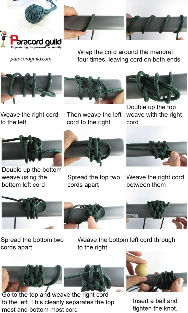 how to tie a globe knot