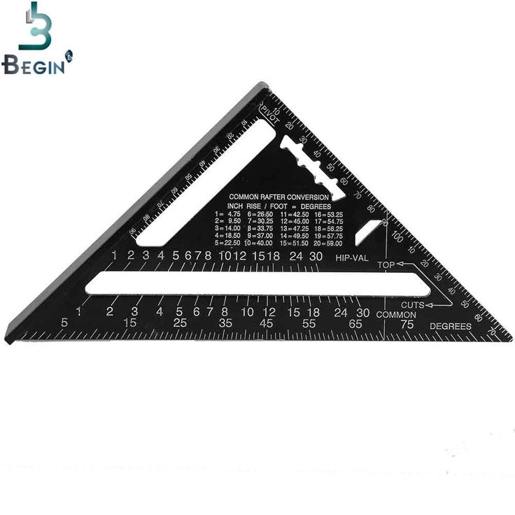 7inch Metric system Silver Aluminum Alloy Speed Square Roofing Triangle Angle Protractor Square Carpenter's Measuring Sharpeners