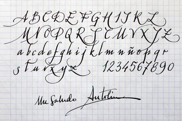 caligrafia abecedario - Buscar con Google                              …