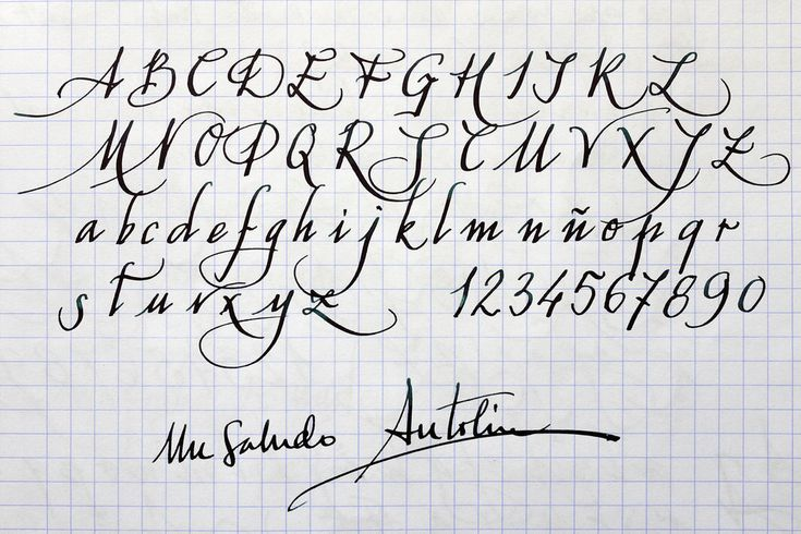 caligrafia abecedario - Buscar con Google