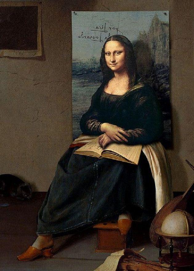 """""""Os sapatos de Mona Lisa"""" (Daniel Lienhard, 2007).  Veja também: http://semioticas1.blogspot.com.br/2011/10/humor-romeno.html"""