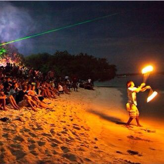 opening Beach party in gili trawangan