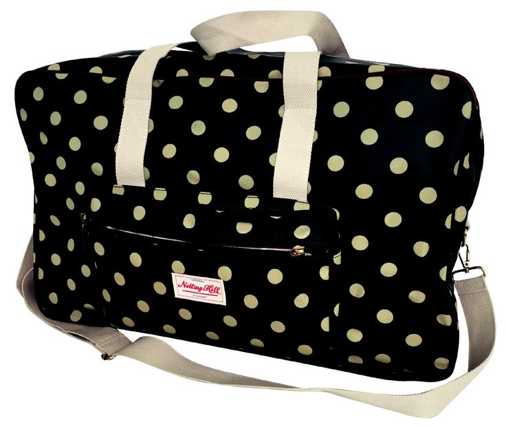 Notting Hill Front Pocket Travel Bag @ R453.00 Weight: 0.98 kg  Dimensions: 56.5 x 23 x 36cm Features: Large Main Zip Compartment, Double Zip Front Pocket, Twin Carry Handle, Detachable Adjustable Shoulder Sling, Internal Storage Pouches, Printed Cotton Canvas, Tonal Piping & Branded Zip Pullers Available Designs: Dots, Clocks, Floral Buy now: https://www.luggageladies.com/index.php?route=product/product&product_id=289 #LuggageLadies #NottingHill #TravelBag #FashionBag