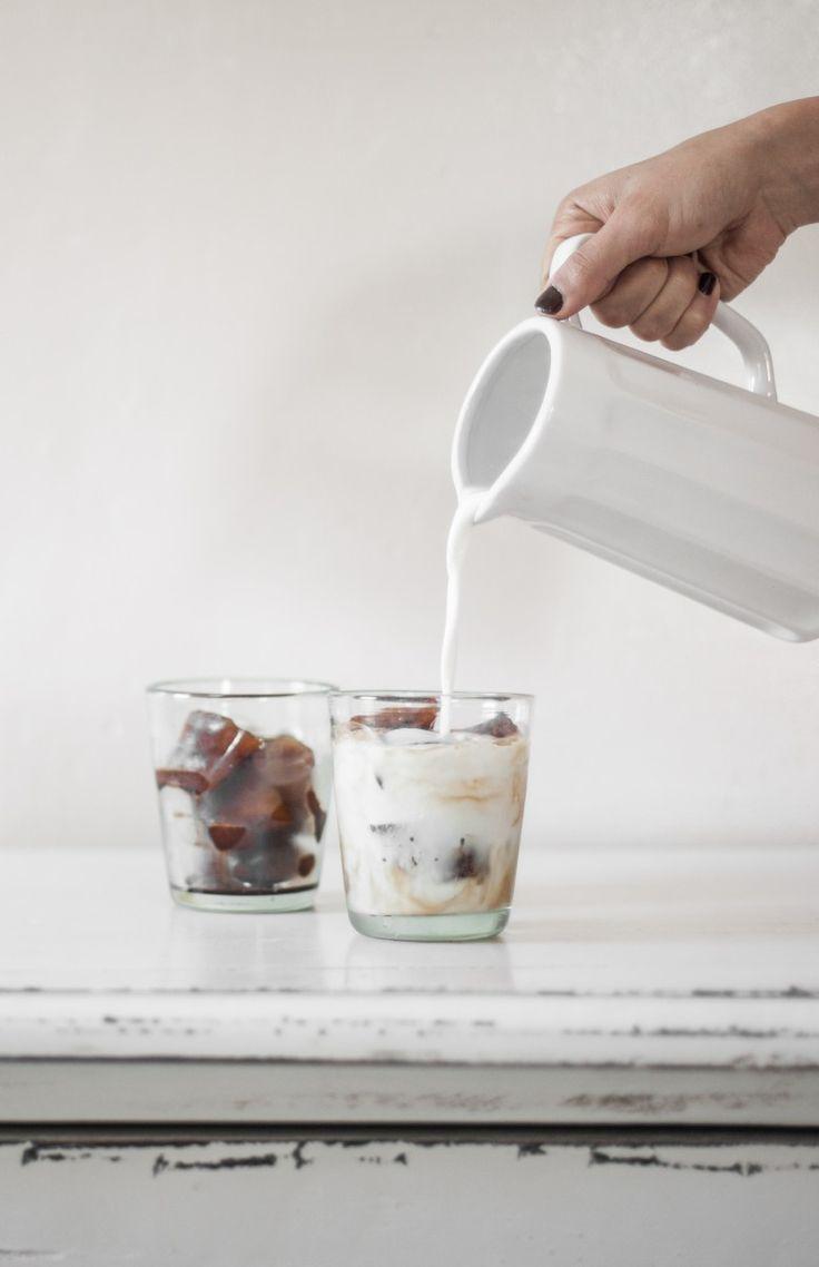 coffee ice cube latte