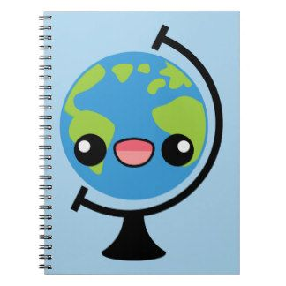 Globo de Kawaii Spiral Notebook
