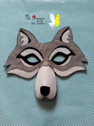 El Bosque de Lulú: Máscara de Lobo para carnaval