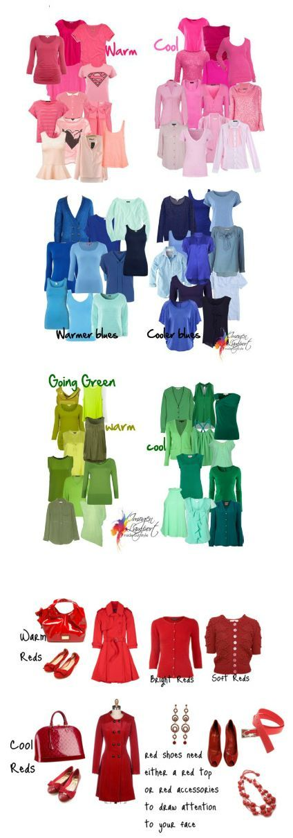 This overview of colors in the wardrobe is from one of my favorite blogs. Always good information on fashion. Great overview of colors #21StepsStyleCourse | 40plusstylecourses.com