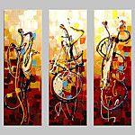 Pintados à mão Abstracto Pinturas a óleo,Tradicional 1 Painel Tela Hang-painted pintura a óleo For Decoração para casa de 2016 por R$168.97