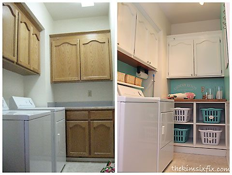 Laundry Room Update With Basket Cubbies