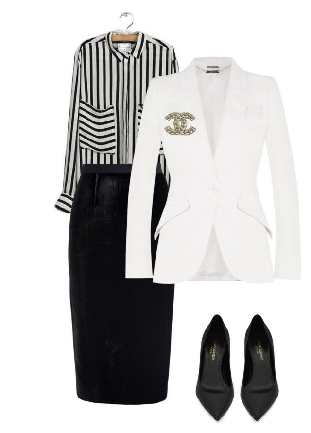 """""""10"""" by explorer-14916524201 on Polyvore featuring Roland Mouret, Alexander McQueen, Yves Saint Laurent and Chanel"""