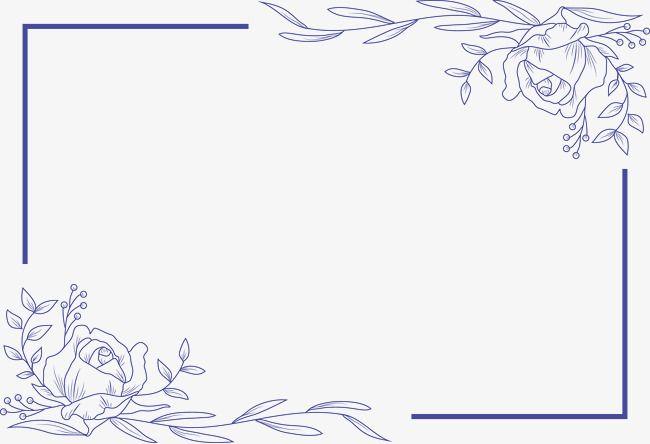 Simple Flower Border Flower Vector Border Vector Flowers