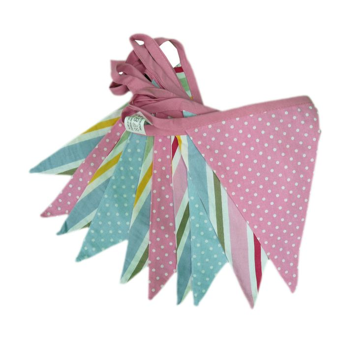 Candy Stripe Double Sided Textile Bunting