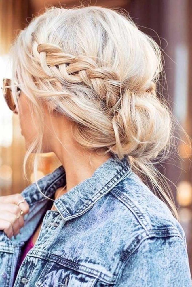 18+ Jolie coiffure avec chignons des idees