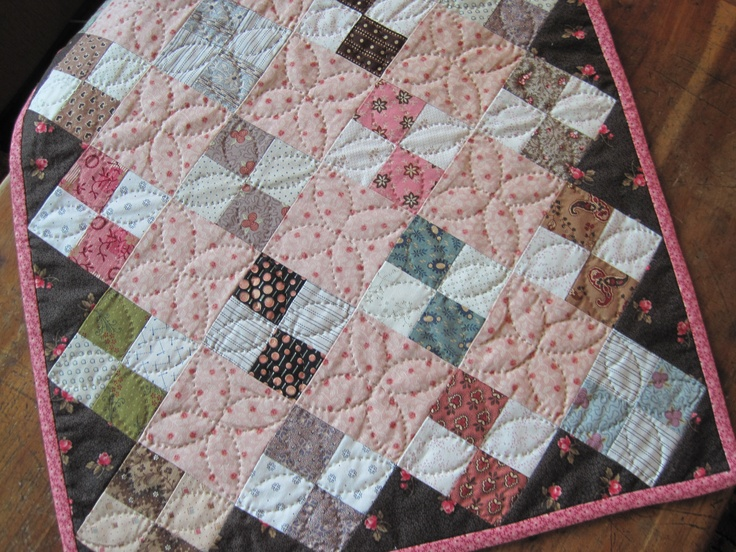 Four Patch Doll Quilt from The Civil War Sewing Circle - Kathleen Tracy www.countrylanequilts.com