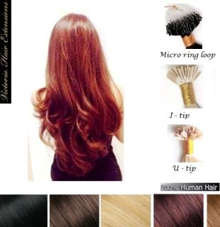 "100 Strands - 22"" (55cm) 1g/each 4A grade, Pre Bonded Remy Human Hair Extensions. ALL COLORS"