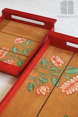 Handpainted Pattachitra Trays.