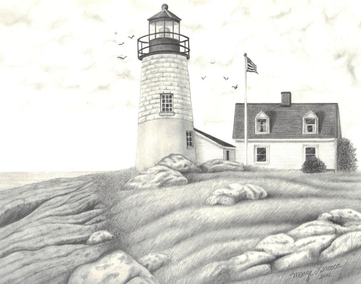 61 best images about painting lighthouse on pinterest for Beach house drawing