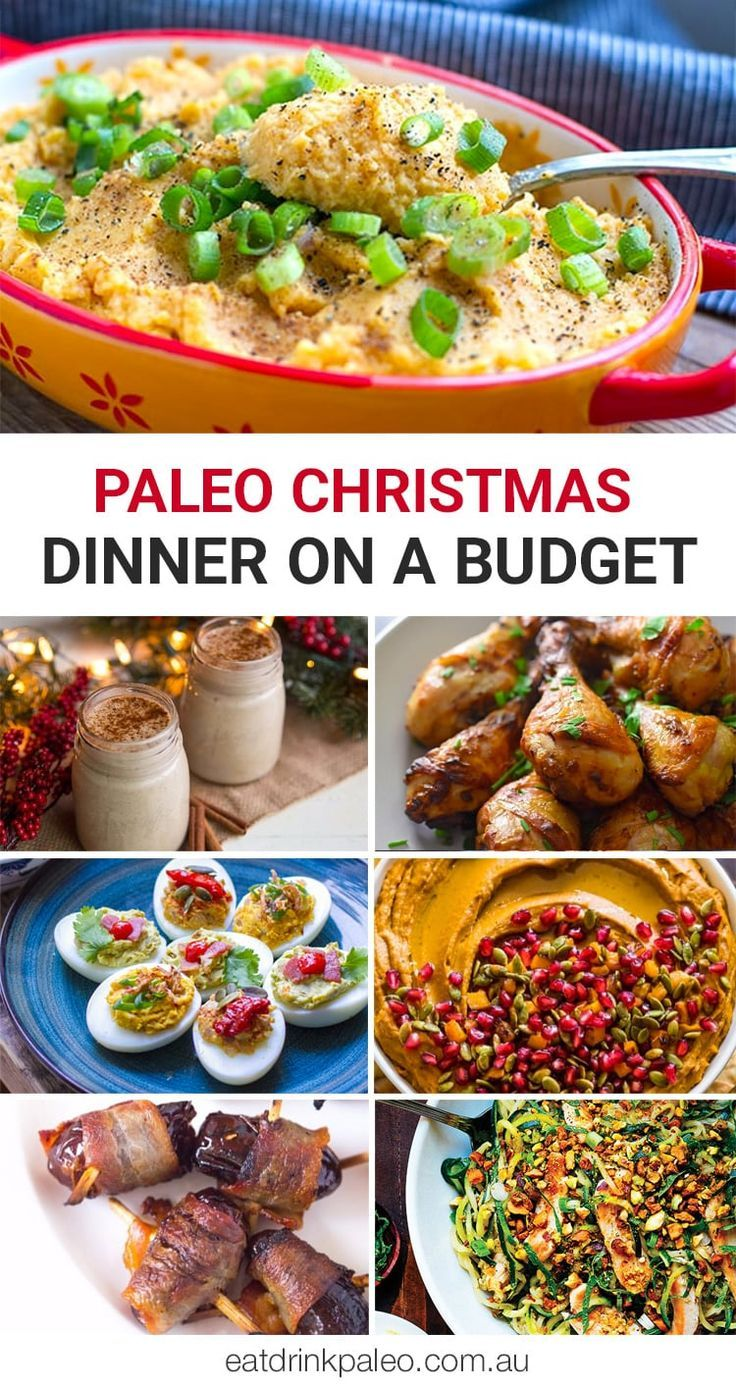 Paleo Christmas Dinner On A Budget - from affordable holiday appetizers and main dishes to low-cost dessert, these dishes will satisfy any crowd.