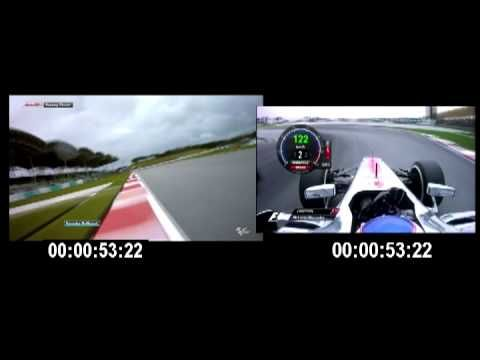 FORMULA 1 VS MOTO GP SEPANG 2013  JENSON BUTTON VS JORGE LORENZO