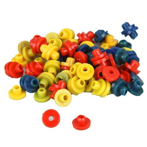 HTHL!100X Rubber Nipple Grommets for Tattoo Needle colorful