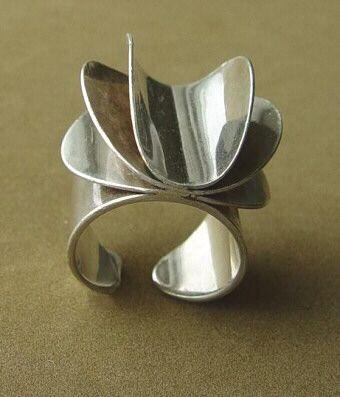 Tone Vigeland Ring - Rose Series - Vintage Norway Designs 1960's