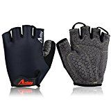 Aiduy Cycling Gloves, Anti-Slip Shock-Absorbing Weight Lifting Gloves Half Finger Gym Fitness Training Sports Gloves (black, L) - https://www.trolleytrends.com/?p=602070