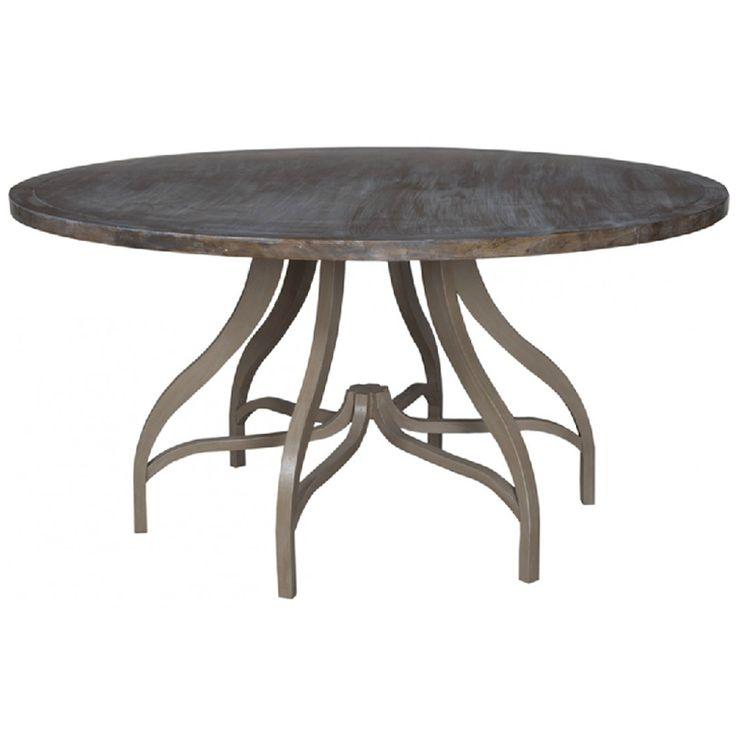 weathered dining table manor taupe wash finish base mahogany top gray petworth oak