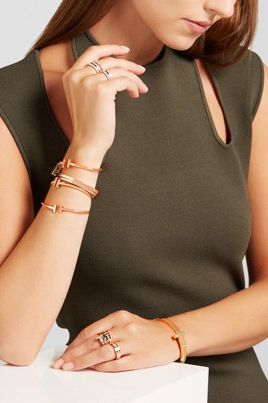 Tiffany & Co. - 18-karat Rose Gold Diamond Ring -