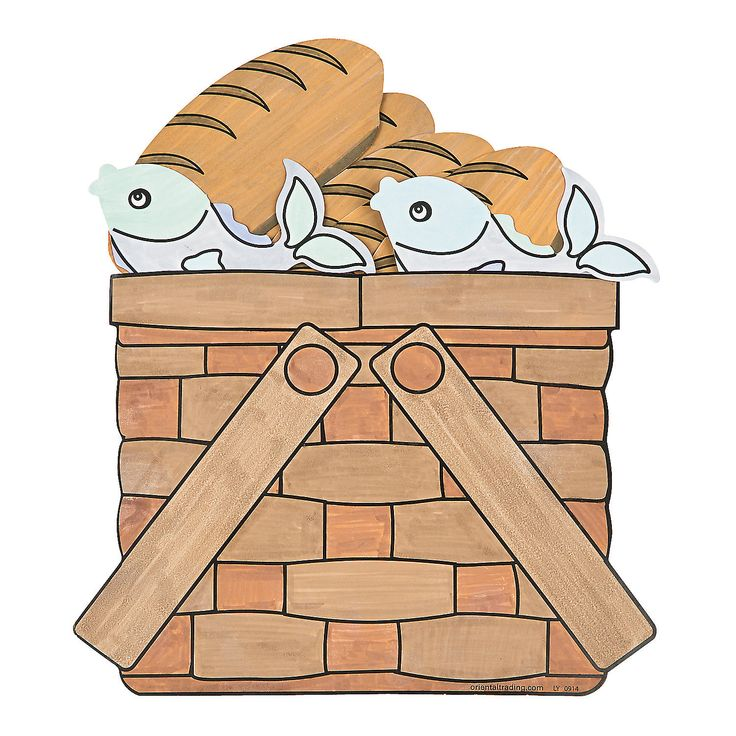 Color Your Own Loaves & Fishes Basket - OrientalTrading.com